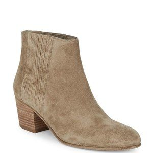 """Vince New """"Haider"""" taupe suede 10M ankle bootie"""
